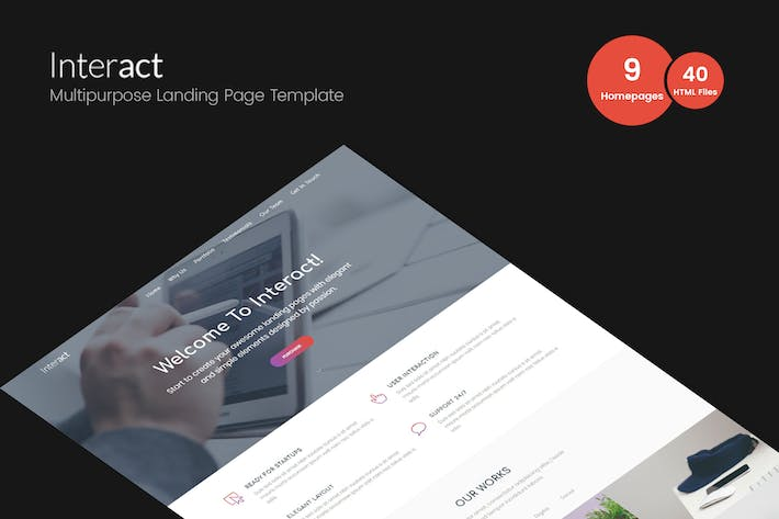 Thumbnail for Interact - Multipurpose Landing Page Template