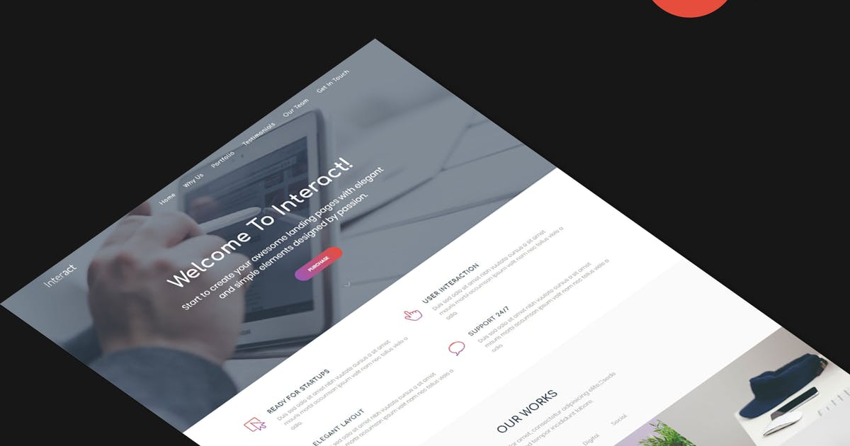 Download Interact - Multipurpose Landing Page Template by zytheme