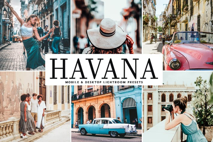 Cover Image For Havana Mobile & Desktop Lightroom Presets
