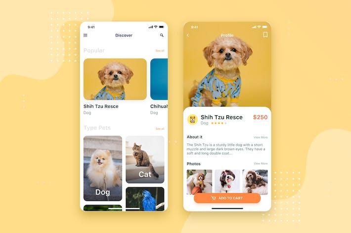 Thumbnail for Pet Social Mobile UI Concept