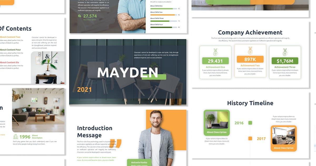 Mayden - Business Template Prensentation by Blesstudio