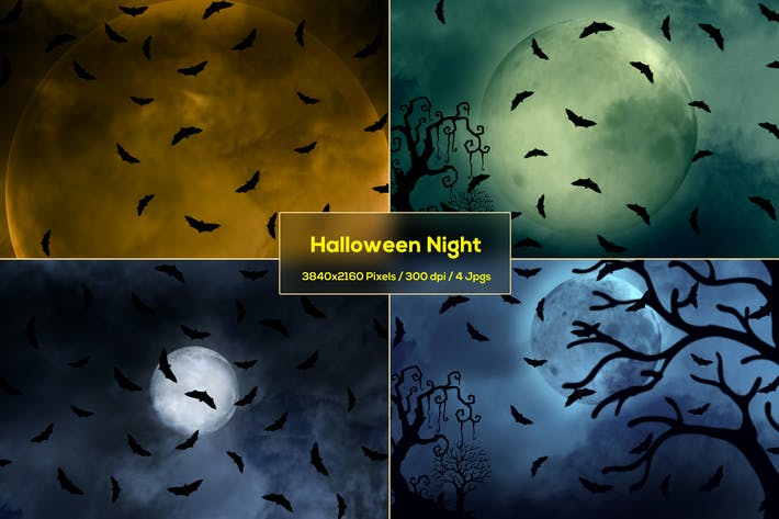 Thumbnail for Halloween Night Backgrounds