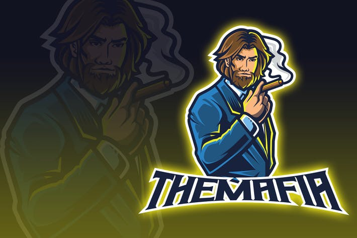 Thumbnail for Smoking Tuxedo Man Esport Logo