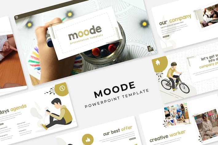 Thumbnail for Moode - PowerPoint Template