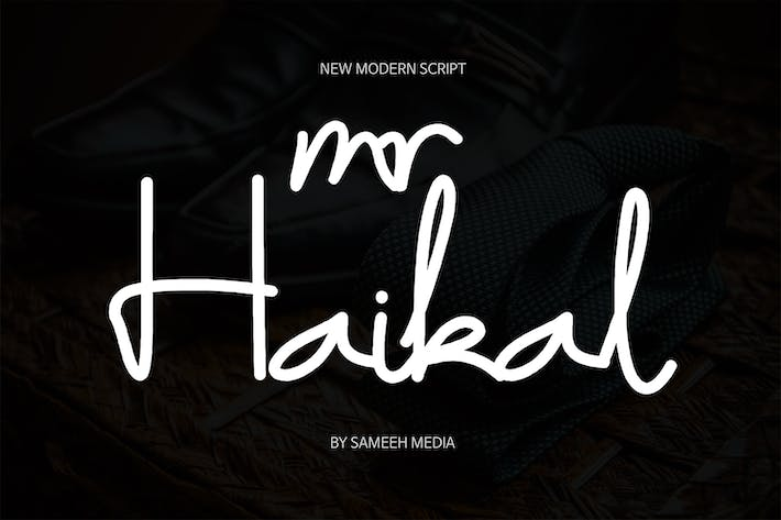 Thumbnail for Mr Haikal Typeface