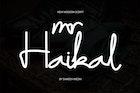 Mr Haikal Typeface