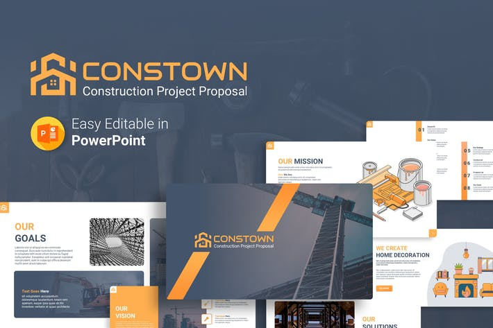 Thumbnail for Constown – Construction Project Presentation