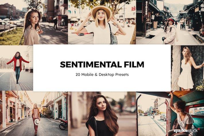 20 сентиментальных фильмов Пресеты Lightroom и LUT