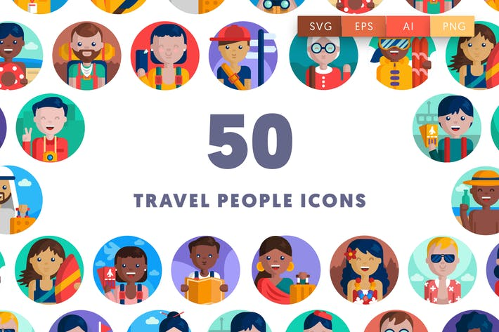 Thumbnail for Travel People Icons