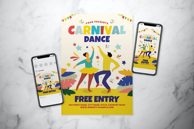 Carnival Dance Flyer Set