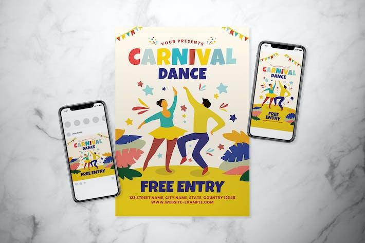 Thumbnail for Carnival Dance Flyer Set