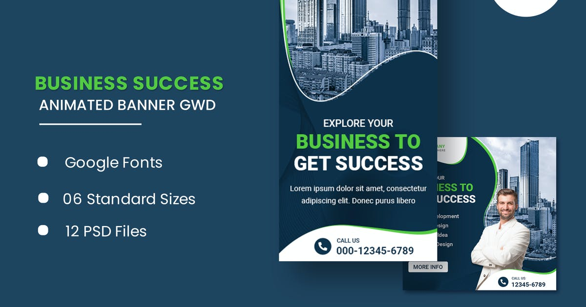 Download Business Animated Banner GWD by IsLein