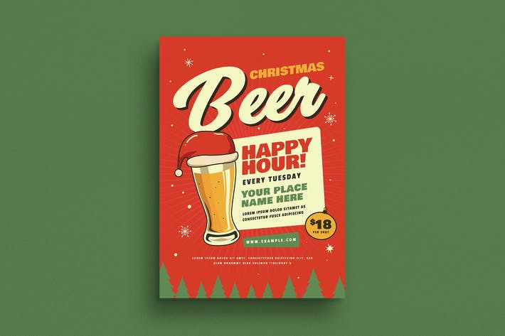 Thumbnail for Retro Christmas Beer Party Flyer