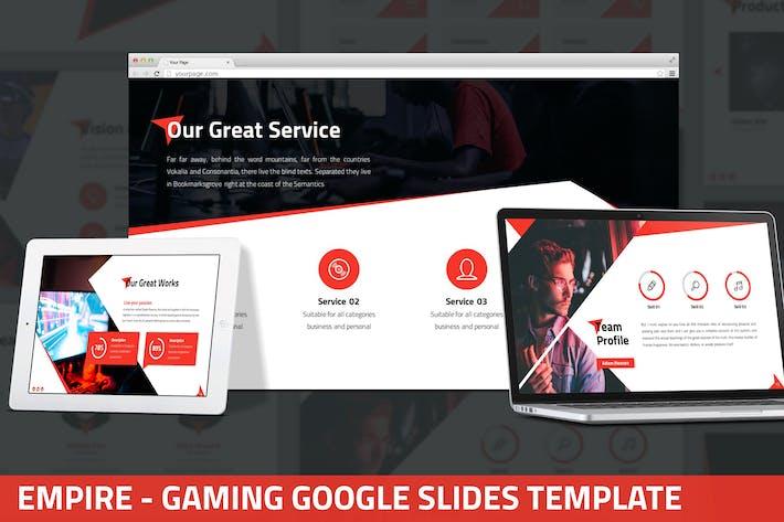 Thumbnail for Empire - Gaming Google Slides Template