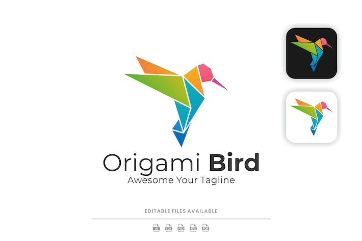 Origami Bird Colorful Logo