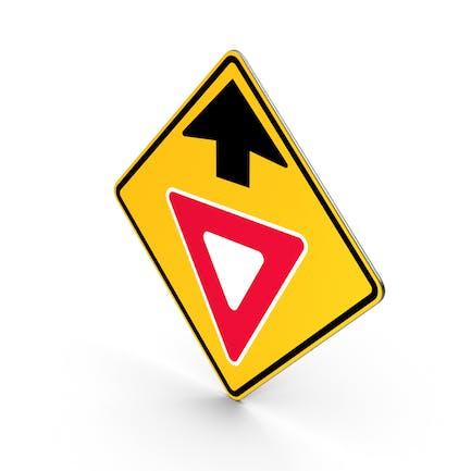 Yield Ahead Traffic Control Road Sign