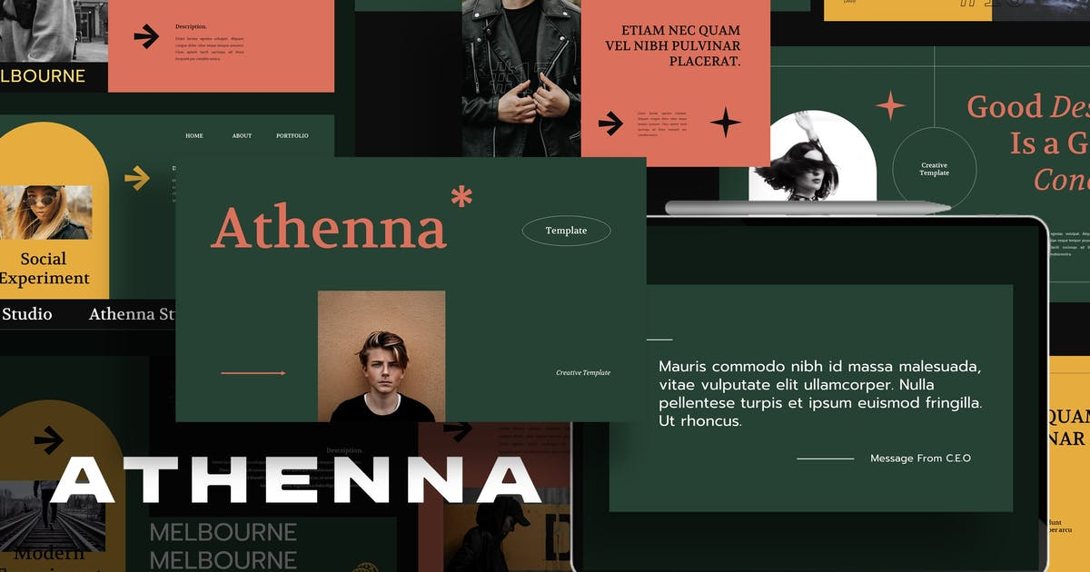 Download Athenna Keynote Template by axelartstudio