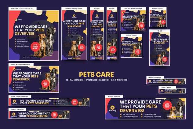 Pets Care Banners Ad