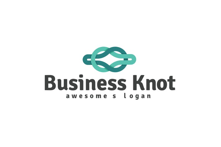 Thumbnail for Business Knot Logo Template