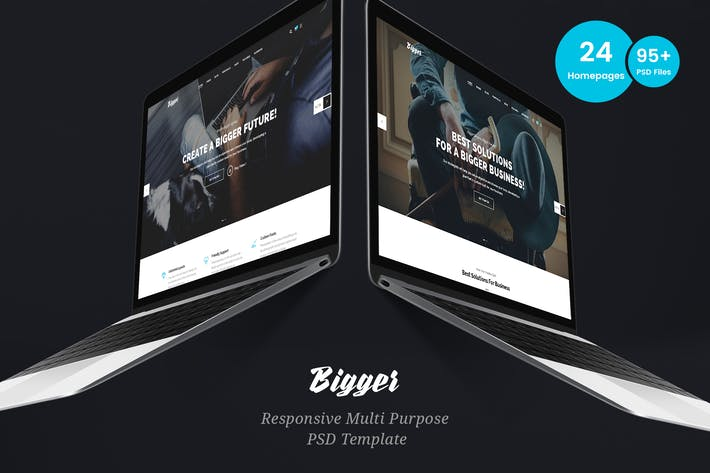 Thumbnail for Bigger - Business Multi-Purpose PSD Template