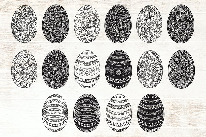 Thumbnail for Decorative Easter Egg Illustrations