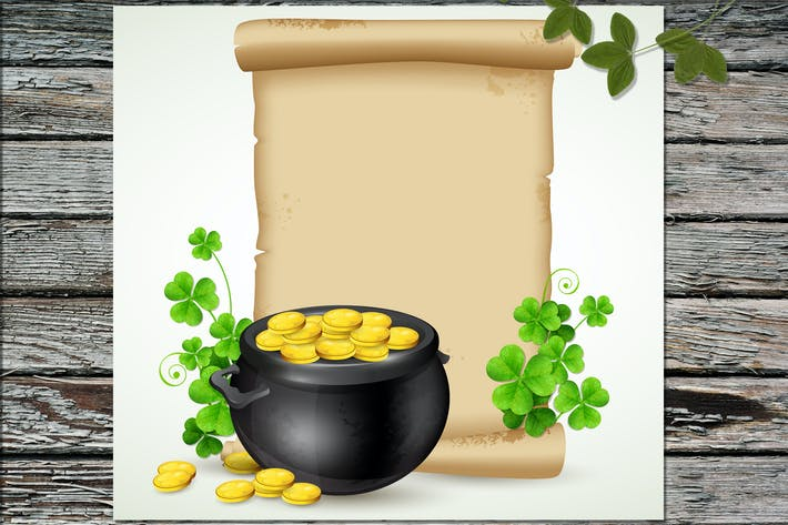Old Scroll and Pot of Gold