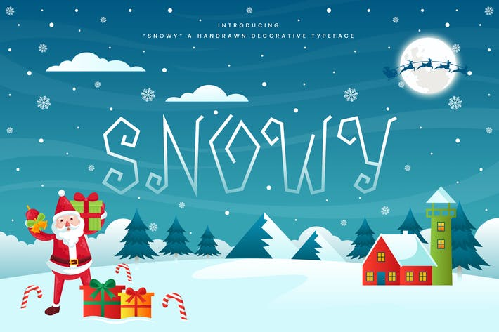 Thumbnail for Snowy - Decorative Christmas Font