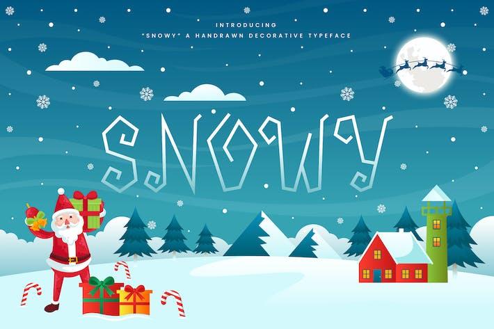 Thumbnail for Snowy - Font de Noël décorative