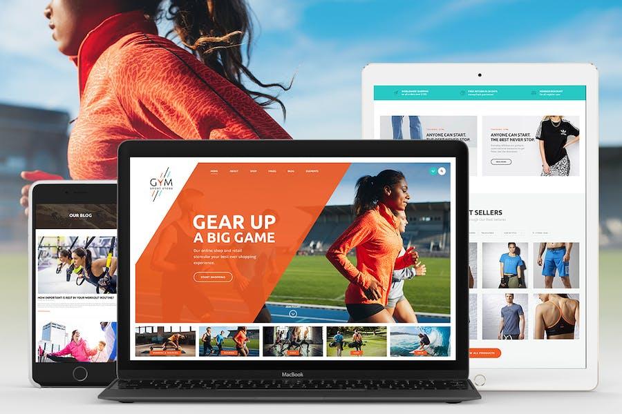 GYM | Sports Clothing & Equipment Store WordPress