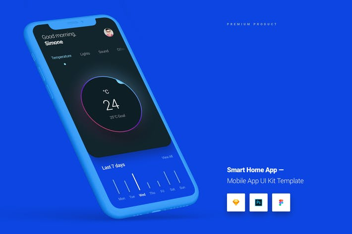 Thumbnail for Smart Home App iOS & Android UI Kit Template