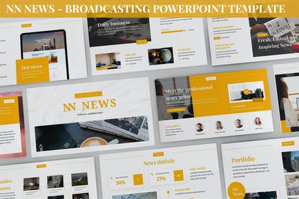 NN News - Broadcasting Powerpoint Template