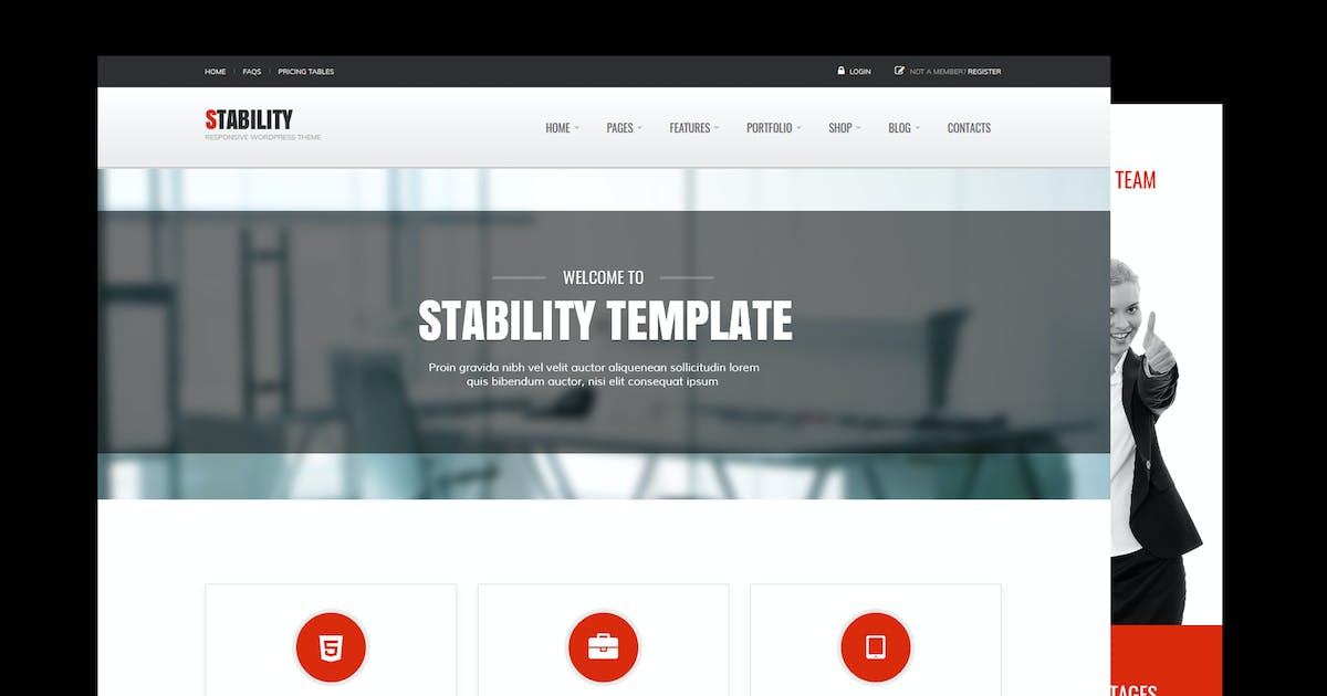 Download Stability Responsive MultiPurpose WordPress Theme by Theme-Squared