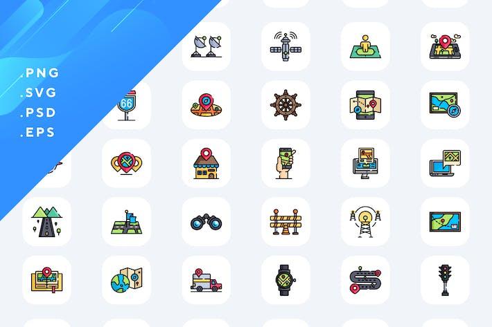 Thumbnail for 50 Иконки местоположения