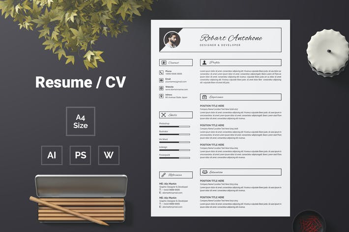 Thumbnail for Resume Template 60