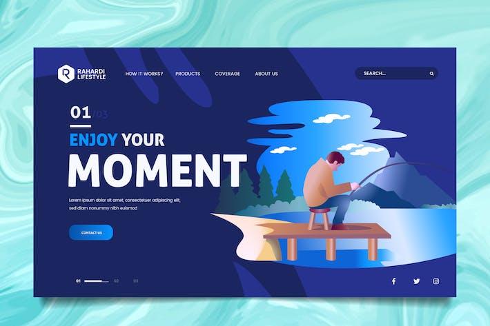 Thumbnail for Fishing Web Header PSD & Vector Template