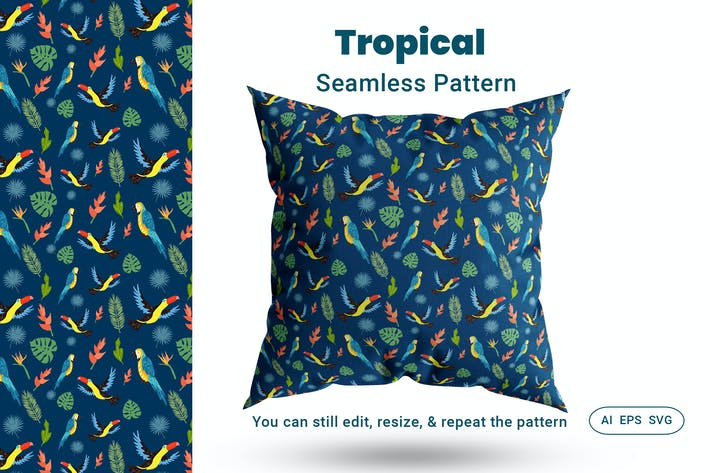 Thumbnail for Seamless Pattern Tropical