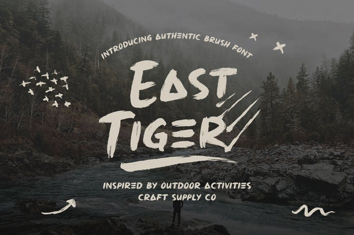 Thumbnail for East Tiger - Authentic Brush Font