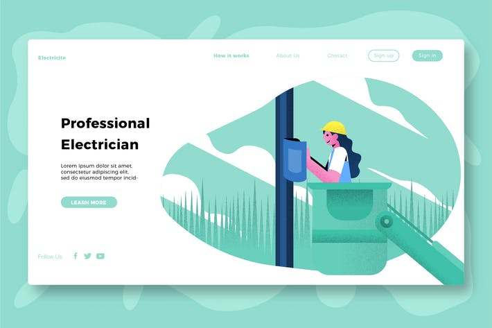 Thumbnail for Electricity - Banner & Landing Page