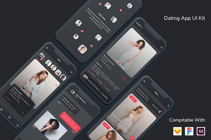 Thumbnail for Dating App UI Kit Dark Mode