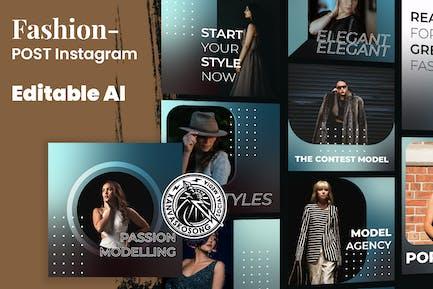 Modèle de mode Instagram