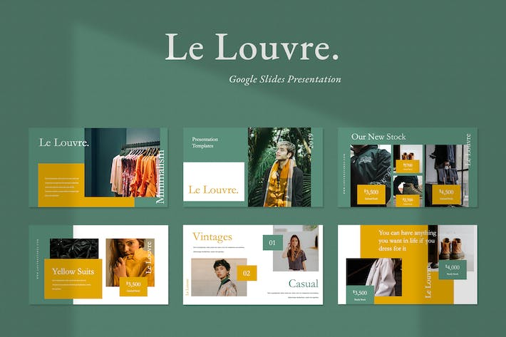 Thumbnail for Le Louvre Fashion Google Slides Presentation