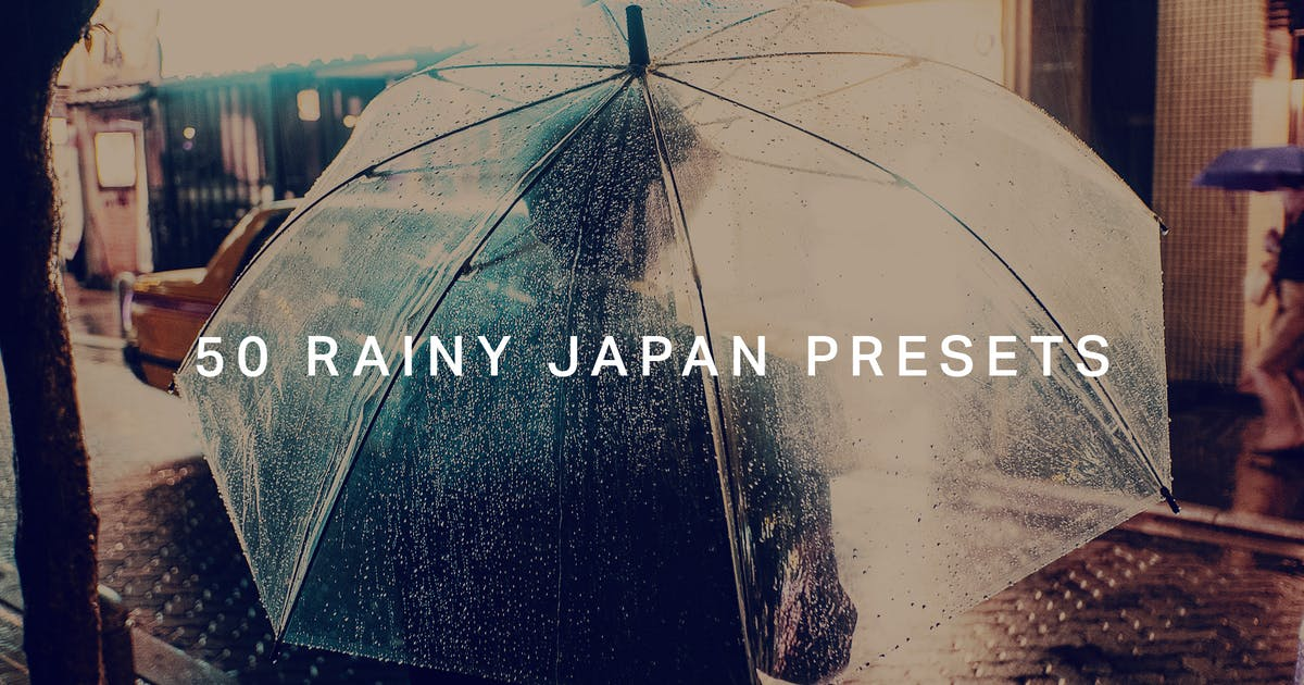 Download 50 Rainy Japan Lightroom Presets by sparklestock