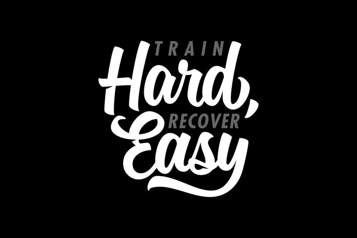 Thumbnail for Train Hard Lettering