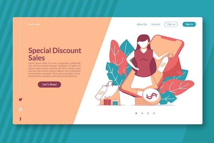 Thumbnail for Special Discount Sales - Landing Page GR