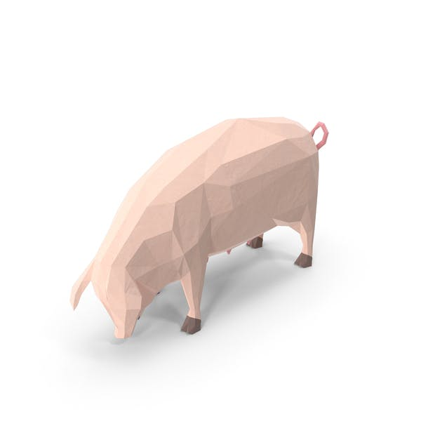 Thumbnail for Low Poly Pig