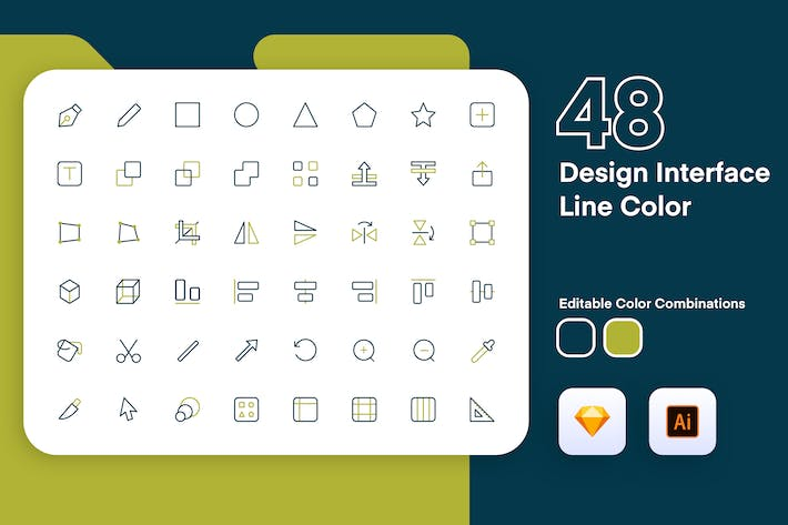 Thumbnail for Design Interface Icon Line Color