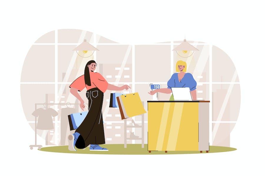 Shopping Web Concept
