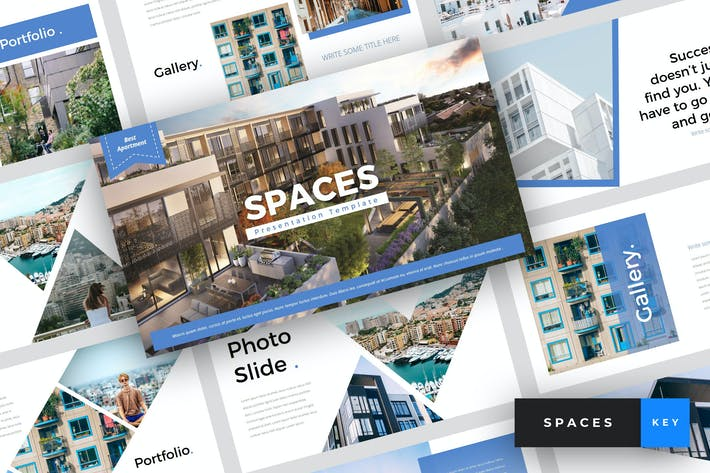 Thumbnail for Spaces - Apartment Keynote Template