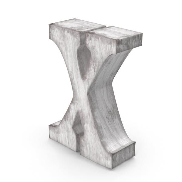 Wooden Decorative Letter X