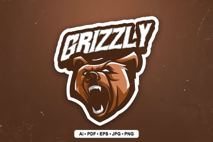Grizzly Bear Esports and Sports mascot Logo